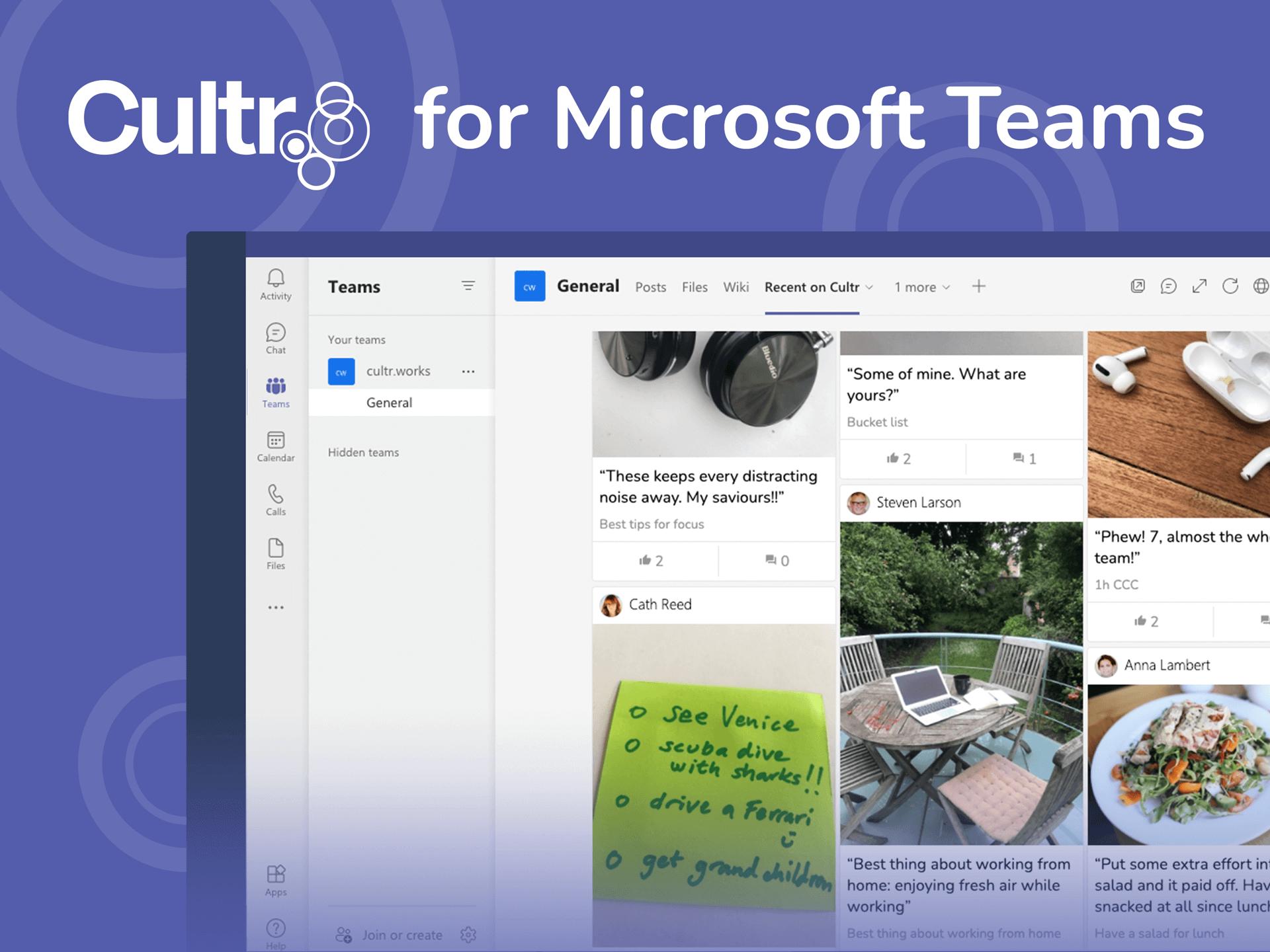 Cultr Connect – Microsoft Teams